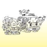 De levering van de taxi stock illustratie
