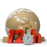 De levering van de wereld in twaalf uren Royalty-vrije Stock Foto's