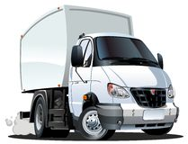 De levering van het beeldverhaal/ladingsvrachtwagen Stock Afbeelding