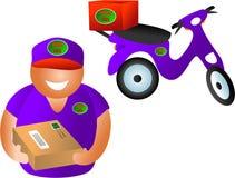 De levering van het pakket stock illustratie