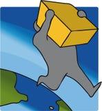 De levering van het pakket Royalty-vrije Stock Foto