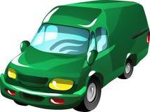 De leveringsbestelwagen van het beeldverhaal royalty-vrije illustratie