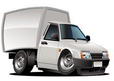 De leveringsbestelwagen van het beeldverhaal Stock Afbeelding