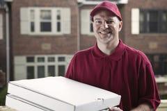 De leveringskerel van de pizza Stock Afbeelding