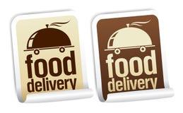 De leveringsstickers van het voedsel. stock illustratie