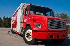 De leveringsvrachtwagen van de coca-cola Stock Foto