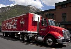 De leveringsvrachtwagen van de coca-cola Stock Foto's