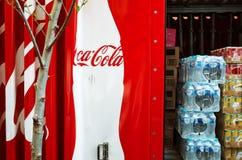 De leveringsvrachtwagen van de coca-cola Royalty-vrije Stock Afbeelding