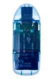 De Lezer van de Kaart USB - met zowel gepaste kappen als BR Stock Afbeeldingen