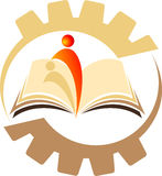 De lezer van het boek stock illustratie