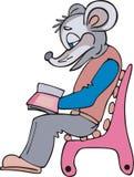 De lezersbeeldverhaal van de muis Royalty-vrije Stock Foto's