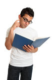 De lezing en het denken van de student royalty-vrije stock afbeeldingen