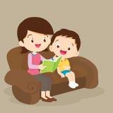 De lezing van de moeder en van de zoon samen vector illustratie