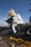 De lezing van de vrouw Stock Foto