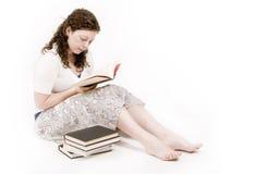 De lezing van de vrouw Stock Afbeelding