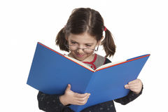 De lezing van het meisje Stock Foto's