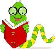 De lezingsboek van de worm Stock Foto