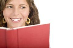 De lezingsboek van het meisje royalty-vrije stock afbeelding
