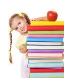 De lezingsstapel van het kind van boeken. Stock Afbeeldingen