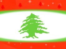 De Libanese achtergrond van het vlagontwerp stock illustratie