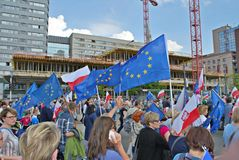 ` De Liberty March de ` de prise de groupes de l'opposition Photo libre de droits