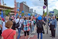 ` De Liberty March de ` de prise de groupes de l'opposition Image stock