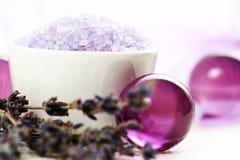 De lichaamsverzorging van de lavendel Stock Foto