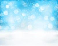 De lichtblauwe achtergrond van de de wintervakantie bokeh Royalty-vrije Stock Afbeelding