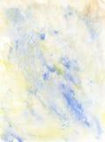 De lichtblauwe en Gele Achtergrond van de Waterverf Stock Afbeelding