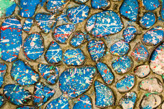 De lichtblauwe Stenen van de Verfdruppel Royalty-vrije Stock Fotografie