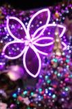 De lichte achtergrond van Kerstmis Stock Foto