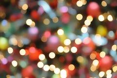 De lichte achtergrond van Kerstmis Stock Afbeeldingen