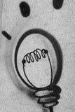 De lichte bal van Graffiti Royalty-vrije Stock Foto