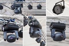 De lichte collage van het stadium Stock Foto's