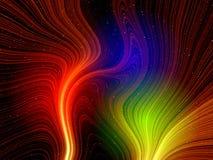De lichte fantasie van kleuren Stock Fotografie