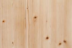 De lichte raad van het Pijnboomhout met de Oppervlakte van de Knopentextuur stock fotografie