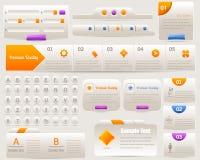 De lichte Reeks van het Ontwerp van de Elementen van het Web Vector Stock Illustratie