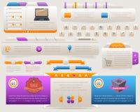 De lichte Reeks van het Ontwerp van de Elementen van het Web Vector Stock Foto's