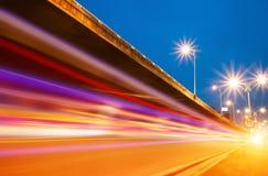 De lichte slepen van het viaduct Royalty-vrije Stock Foto's