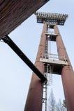 De lichte toren van Groot stadion Stock Afbeelding