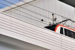 De lichte trein van de stad bij het lopen Royalty-vrije Stock Afbeelding