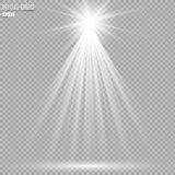 De lichteffecten van de schijnwerpersscène Vector illustratie Stock Foto