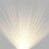 De lichteffecten van de schijnwerpersscène Vector illustratie royalty-vrije illustratie