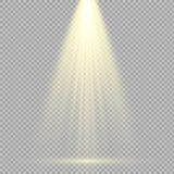 De lichteffecten van de schijnwerpersscène Vector illustratie Royalty-vrije Stock Afbeelding