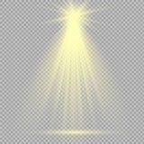 De lichteffecten van de schijnwerpersscène Vector illustratie Stock Foto's