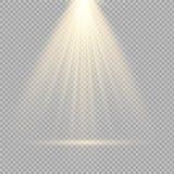 De lichteffecten van de schijnwerpersscène Vector illustratie Stock Afbeelding