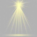 De lichteffecten van de schijnwerpersscène Vector illustratie Royalty-vrije Stock Foto