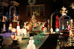 De Lichten en de Decoratie van Kerstmis Royalty-vrije Stock Foto's