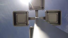 De lichten met hemel koelen Stock Afbeeldingen
