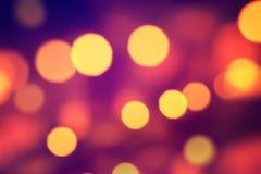 De lichten van Bokeh Royalty-vrije Stock Afbeelding